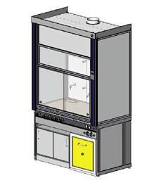 Вытяжные шкафы для работы с ЛВЖ с возможностью установки тумбы Dueperthal