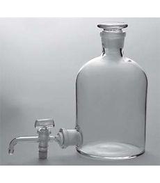 Склянка-аспиратор с краном и пришлифованной пробкой (бутыль с тубусом Вульфа)