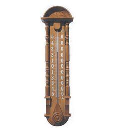 Термометры фасадные на деревянном основании Стеклоприбор